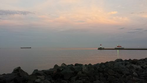 Duluth Harbor Sunset